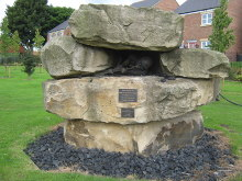 Fishburn, Fishburn Green Memorial to Miners, County Durham. Copywrite Peter robinson